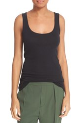 Vince Women's Scoop Neck Pima Cotton Layering Tank