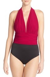 Women's Magicsuit 'Yves' Halter Neck One Piece Swimsuit Vampire Red