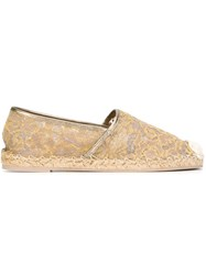 Valentino Garavani Embroidered Espadrilles Nude And Neutrals