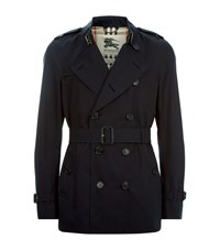 Burberry London The Kensington Short Heritage Trench Coat Male Navy