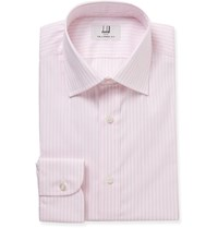 Dunhill Pink Slim Fit Striped Cotton Shirt Pink