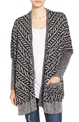 Sun And Shadow Women's Texture Knit Boxy Cardigan