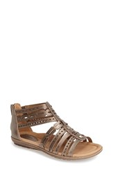 Women's Earth 'Bay' Leather Sandal Platinum