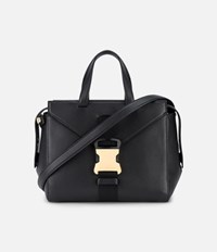 Christopher Kane Grained Marshall Shoulder Bag Black