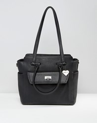Marc B Structured Winged Shoulder Bag Black