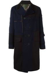 Valentino Double Breasted Coat Blue