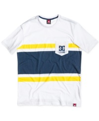 Dc Shoes Rd Flyer Chest Stripe T Shirt White