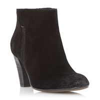 Dune Pharah Back Zip Ankle Boots Black Suede