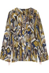 Just Cavalli Printed Chiffon Blouse Multi