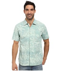 Tommy Bahama Tides Shirt Dusty Jade Green Men's Short Sleeve Button Up Blue