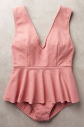 Anthropologie Marysia Skirted Maillot Pink S Swimwear