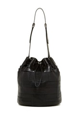Christopher Kon Pannier Weave Leather Bucket Bag Black