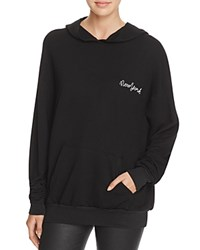 Project Social T New York Embroidered Hoodie Pullover Black