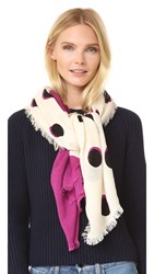Marc Jacobs Shadow Spot Stole Scarf Ivory Multi