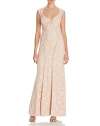 Aqua Illusion Inset Lace Gown Blush