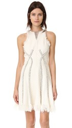 Alexander Wang Sleeveless Dress With Piercing Detail Ivory