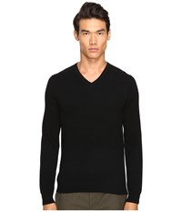 Vince Cashmere Long Sleeve Crew Neck Sweater Black Men's Sweater