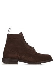 Church's Caldecott Lace Up Suede Brogue Ankle Boots Brown