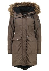 Khujo Balm Winter Coat Dark Olive