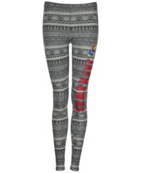 Concepts Sport Women's Kansas Jayhawks Comeback Tribal Leggings Charcoal Gray