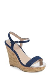 Women's Charles By Charles David 'Arizona' Espadrille Wedge Blue Denim