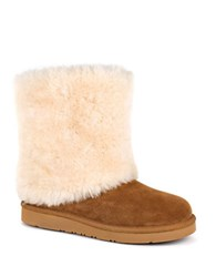 Ugg Patten Suede Sheepskin Ankle Boots Natural