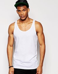 Asos Vest With Relaxed Skater Fit White