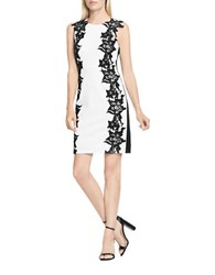 Vince Camuto Two Tone Sleeveless Dress White