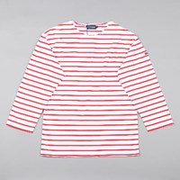 Armor Lux Lightweight Breton Top White Red