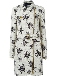 Fausto Puglisi Sun Print Belted Trench Coat Black