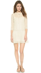 Twelfth St. By Cynthia Vincent Lace Drop Waist Dress Ivory