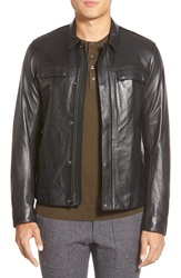 Vince Lambskin Leather Jacket Black