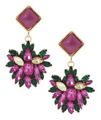 Maiocci Collection Meras Purple Hand Made Earrings
