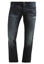 Edc By Esprit Straight Leg Jeans Dark Blue Tinted