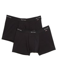 Paul Smith Solid Cotton Briefs Black