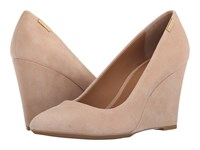 Calvin Klein Celesse Blush Nude Kid Suede Women's Wedge Shoes Neutral