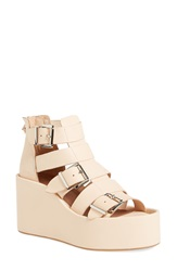 Jeffrey Campbell 'Thetis' Platform Gladiator Sandal Women Natural