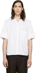 Lemaire White Y Neck Shirt