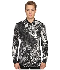 Just Cavalli Jungle Tattoo Print Shirt Black Variant