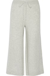 10 Crosby By Derek Lam Cropped Cashmere Wide Leg Pants Gray