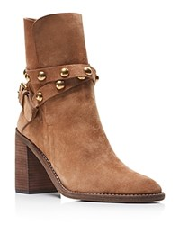 See By Chloe Janis Studded Strap Booties Tan