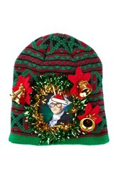 Bioworld Hipster President Holiday Beanie Green