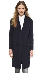 Atm Anthony Thomas Melillo Cocoon Notch Collar Coat Navy