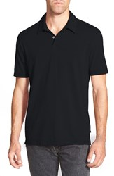 Men's James Perse Trim Fit Sueded Jersey Polo Black