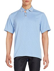 Saks Fifth Avenue Jersey Polo Shirt Periwinkle
