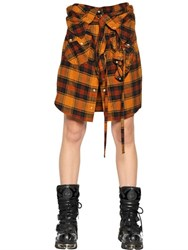 Faith Connexion Shirt Effect Japanese Flannel Skirt