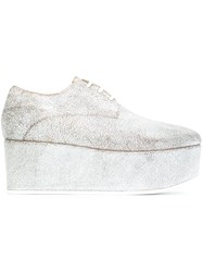 Marsell Platform Lace Up Shoes Grey