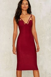 Rare London Clash By Night Bodycon Dress Red