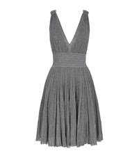 Missoni Pleated Lurex Plunge Mini Dress Female Silver