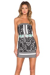 Three Floor Wasson Strapless Dress Black And White